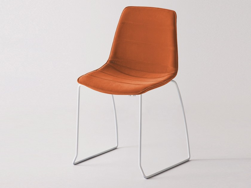 Sled base fabric chair ALHAMBRA SIE - GABER