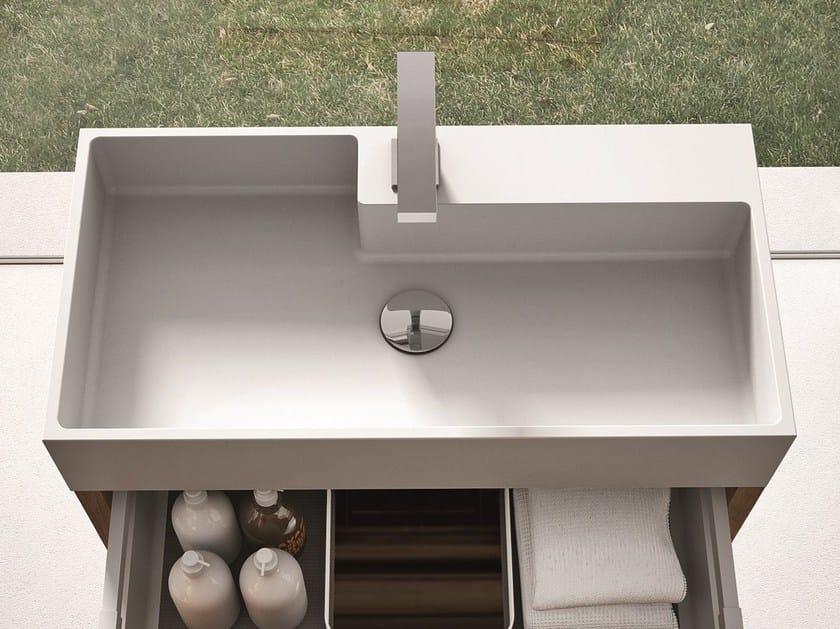 Rectangular single Aquatek washbasin CUBIK by Idea