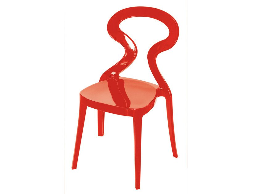 Stackable technopolymer chair ANITA | Stackable chair - GABER