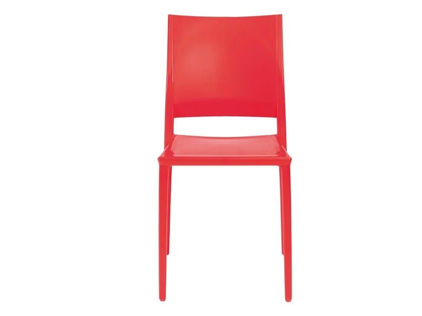 Stackable technopolymer chair MAGIC - GABER