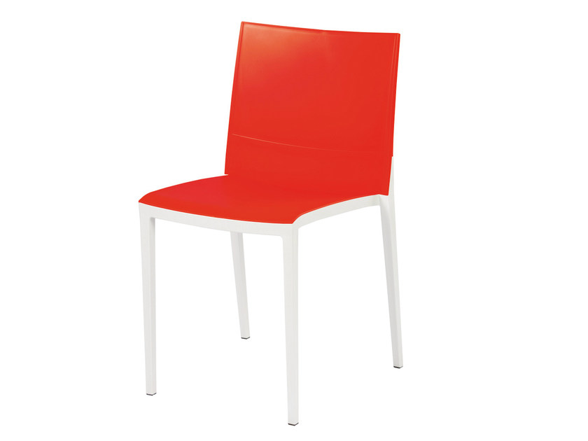 Stackable technopolymer chair OVER - GABER