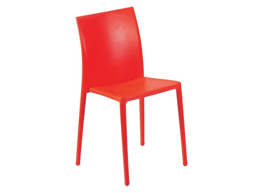 Stackable technopolymer chair MOON - GABER