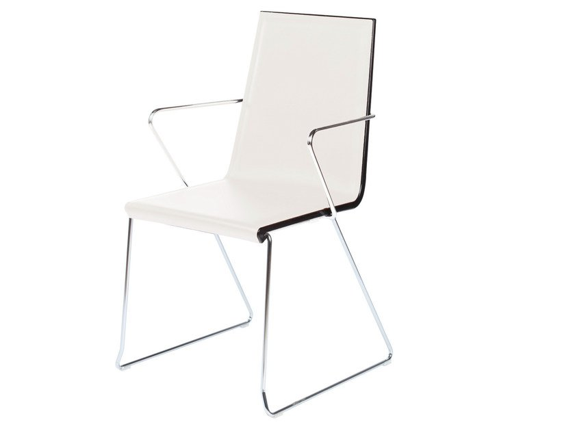 Sled base stackable chair with armrests SNAKE 47 | Chair - GABER