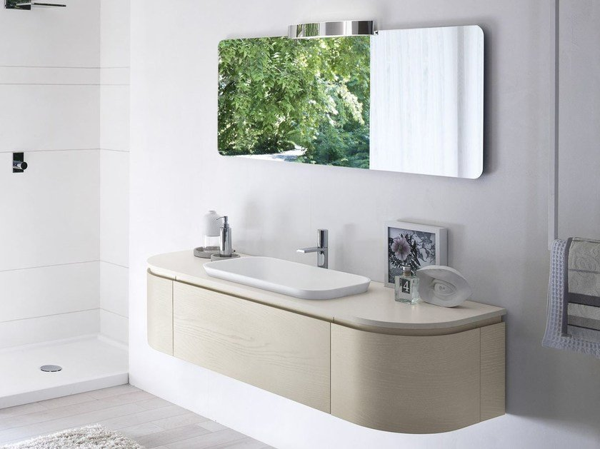 Single vanity unit with mirror COMP MSP13 - IdeaGroup
