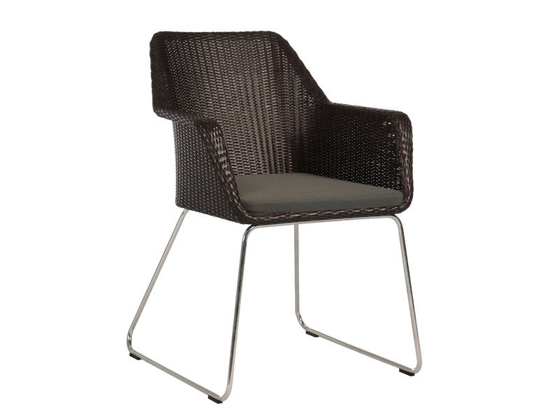 Sled base garden chair with armrests BOSTON | Garden chair - Sérénité Luxury Monaco