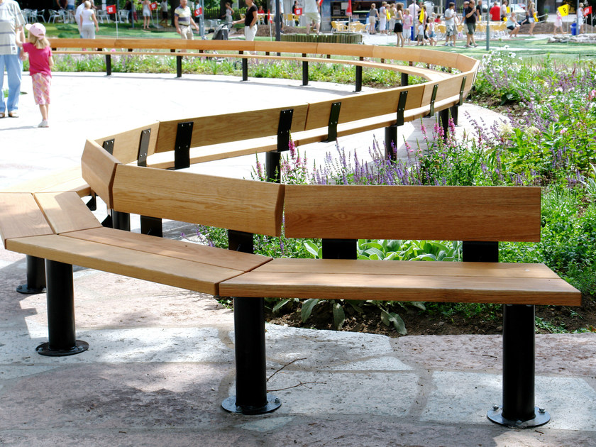 Sectional wooden Bench CITY   Sectional Bench - Nola Industrier