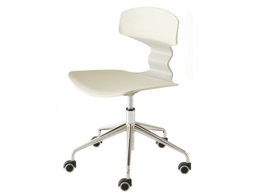 Technopolymer task chair with 5-Spoke base with casters TOLO 5R - GABER