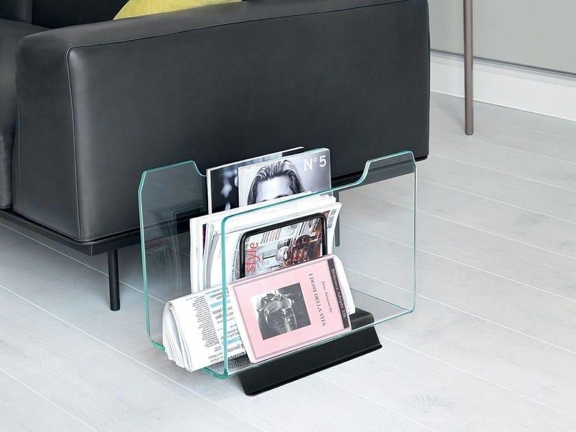 Glass magazine rack DOX - SOVET ITALIA