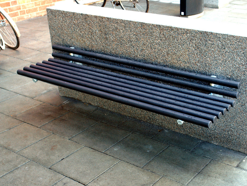 Wall-Mounted steel Bench GOAL | Wall-Mounted Bench - Nola Industrier