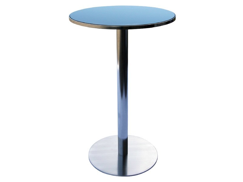 Round Glass and Stainless Steel high table PHOENIX | High table - Sérénité Luxury Monaco