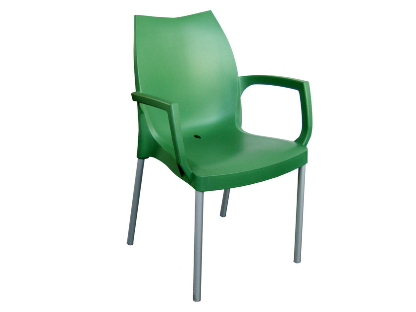 Technopolymer chair with armrests TULIP B - GABER