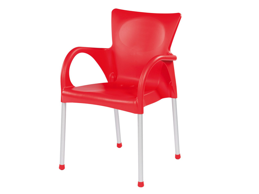 Stackable technopolymer chair with armrests BEVERLY - GABER