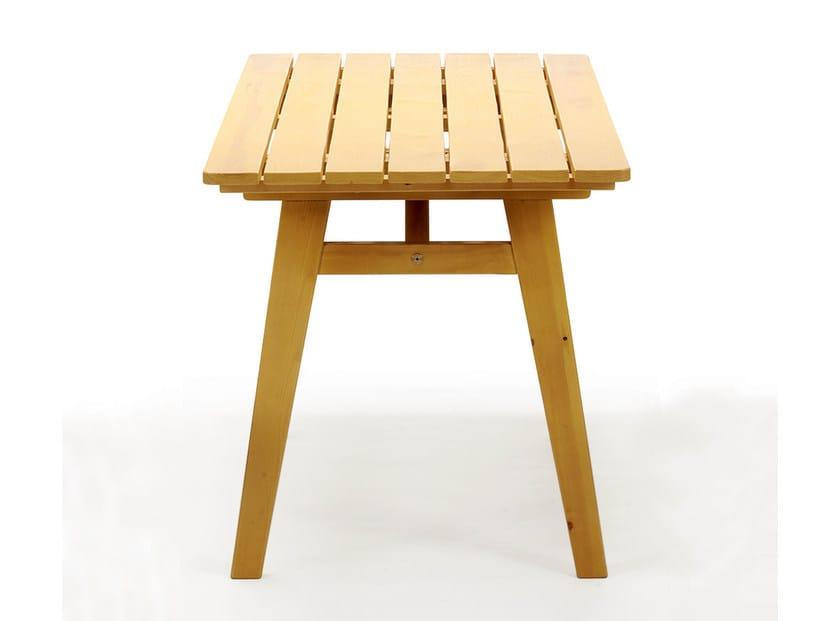 Rectangular wooden garden table HJORTHAGEN | Rectangular garden table by Nola Industrier
