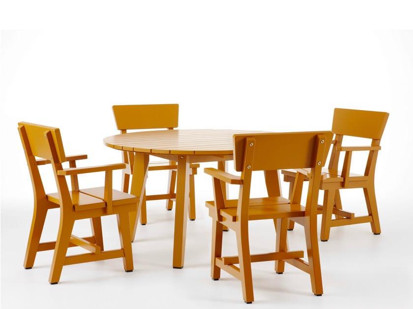 Scandinavian style wooden garden armchair HJORTHAGEN   Garden armchair - Nola Industrier
