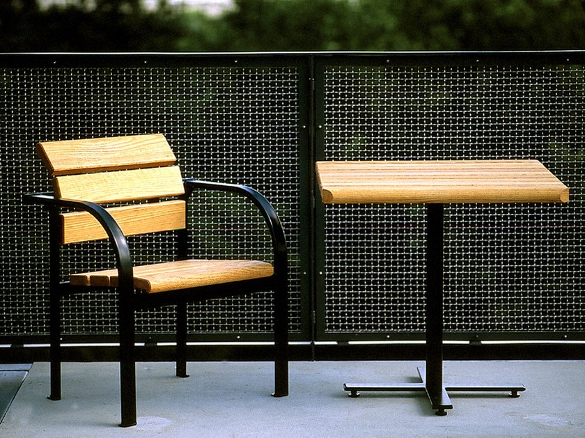 Steel and wood Table for public areas KALMAR | Table for public areas - Nola Industrier