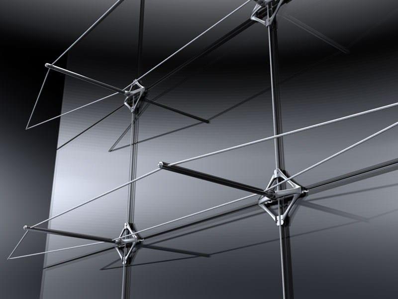 Anchorage system and profile for a facade TENSYON - Nuova Oxidal