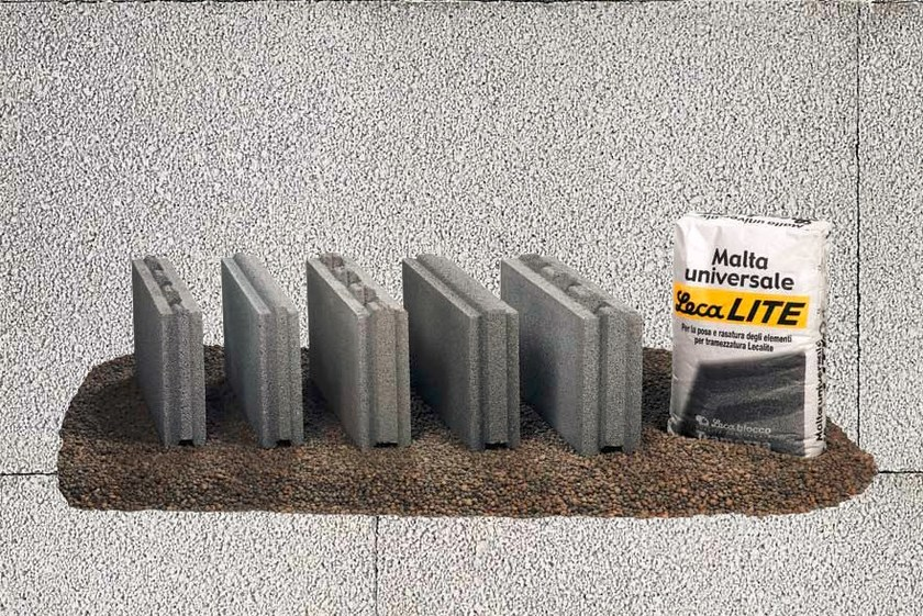 Lightweight concrete block for internal partition LECABLOCCO TRAMEZZA LECALITE by LecaSistemi