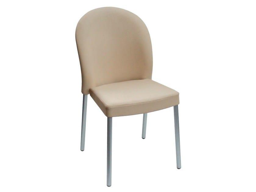 Upholstered imitation leather chair MAROSTICA - GABER