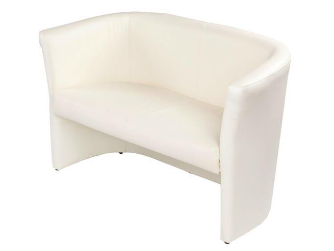2 seater leather sofa DUCA 2 - GABER
