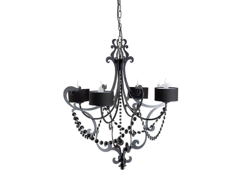 Iron chandelier IAGO | Chandelier by Cantori