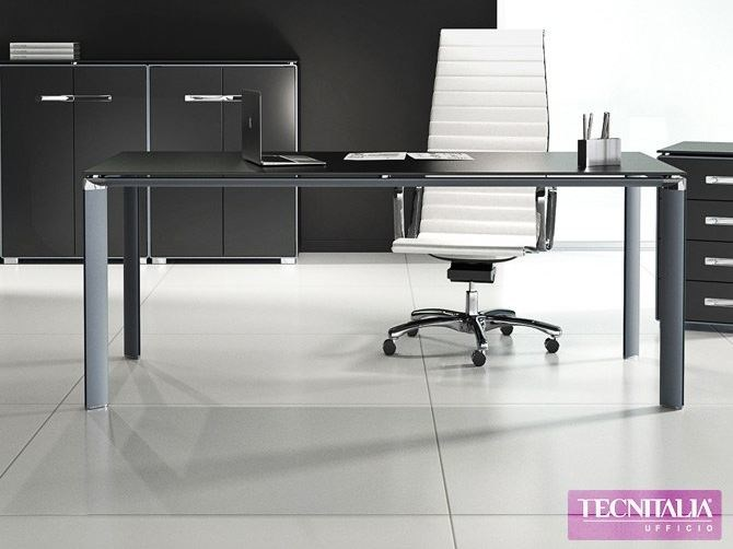 Rectangular executive desk AER - TECNITALIA
