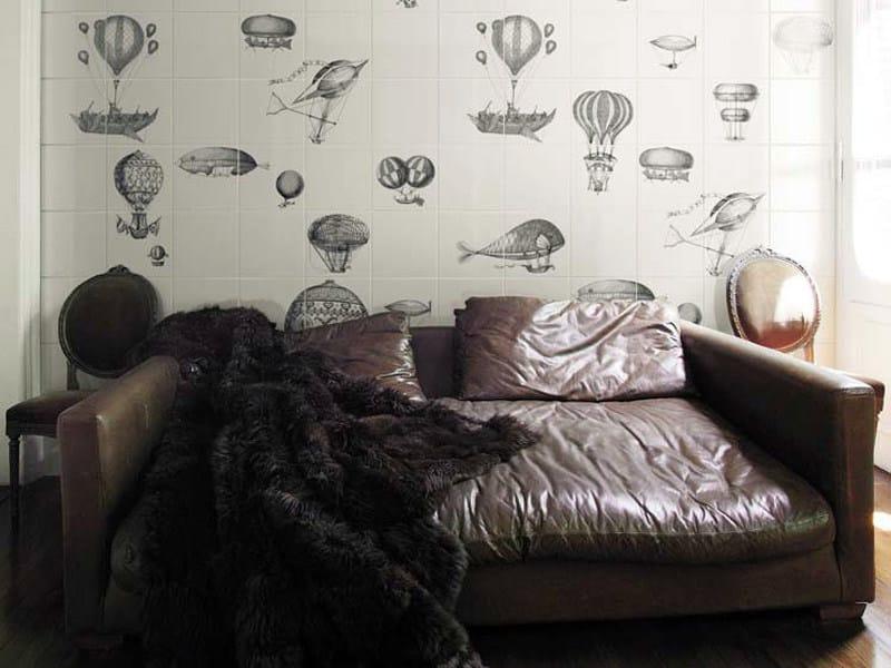Ceramic wall tiles MACCHINE VOLANTI by Ceramica Bardelli