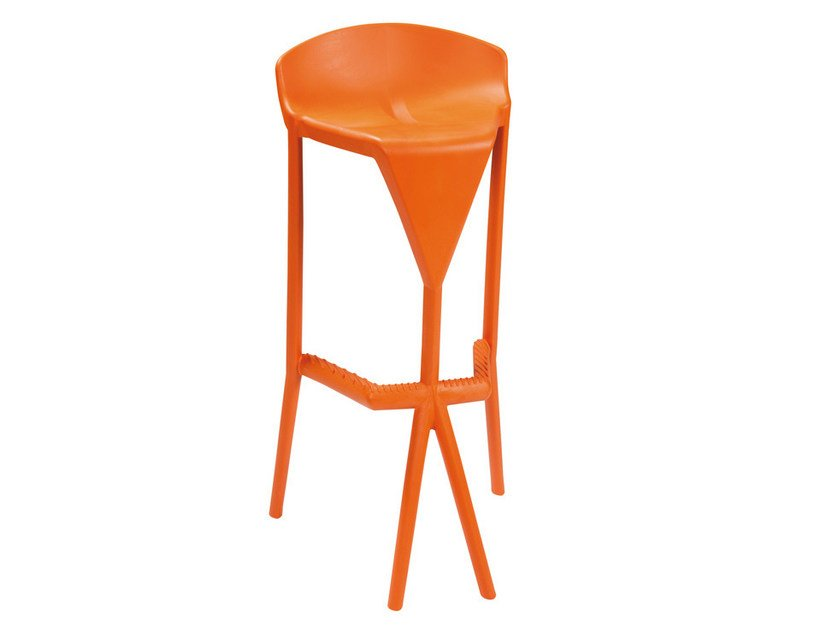 Stackable technopolymer stool SHIVER - GABER