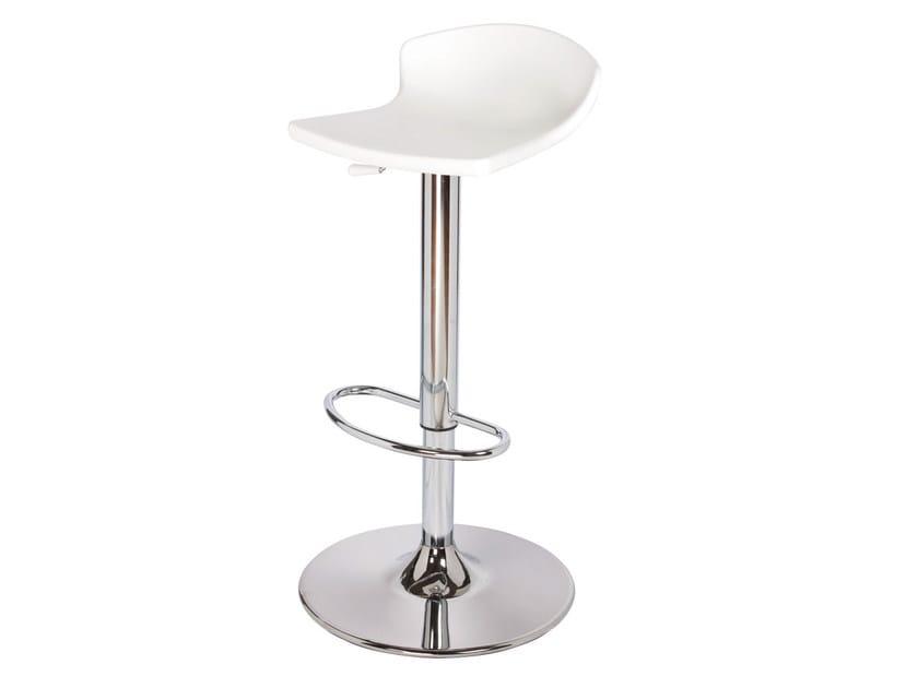 Height-adjustable metal stool GULLIVER AV - GABER