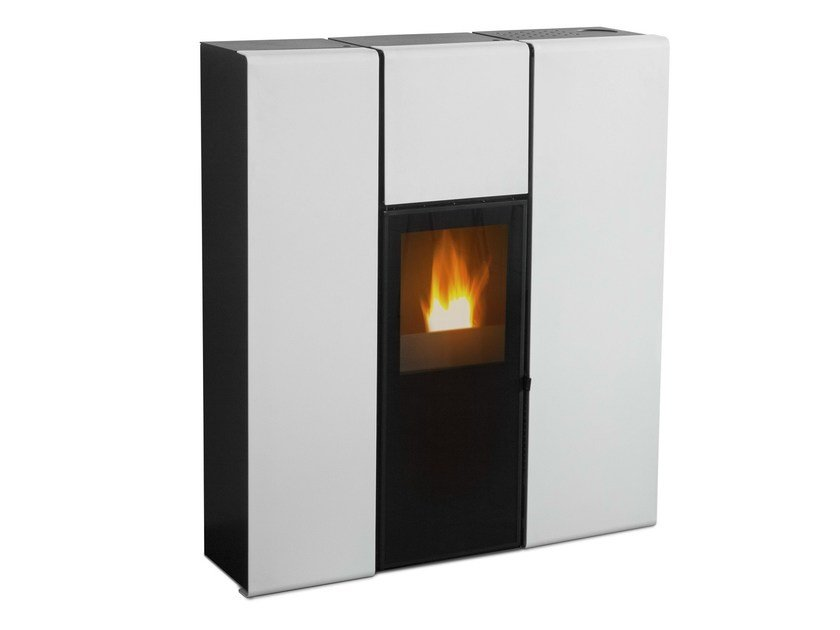 Pellet stove flux by mcz group - Pellet stoves for small spaces set ...