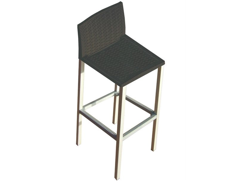 Technopolymer counter stool TEO - GABER