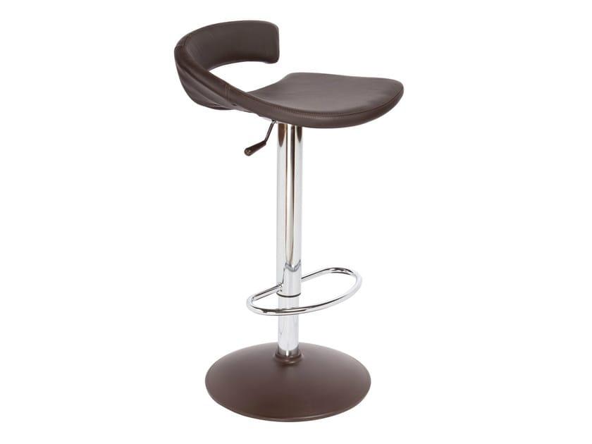 Height-adjustable high upholstered stool TORINO I - GABER