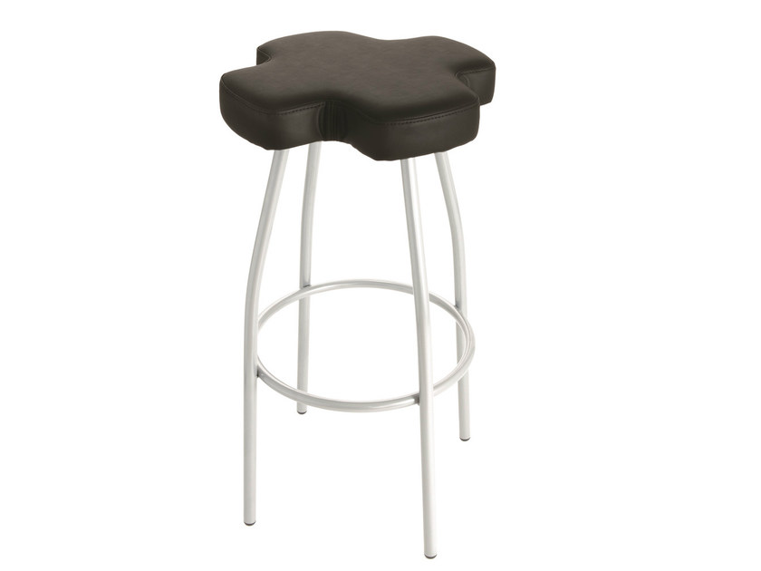 High upholstered imitation leather stool CROSS - GABER