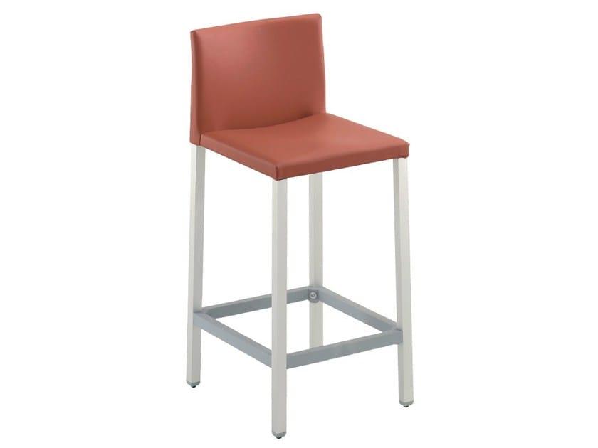 Upholstered imitation leather counter stool MILANO - GABER
