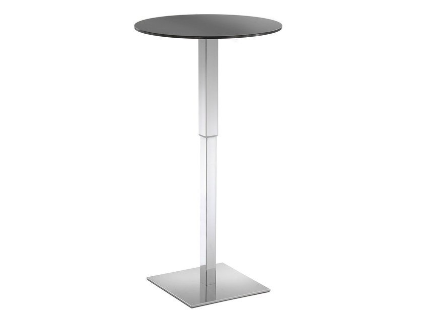 Height-adjustable round Compactop® table HALIFAX - GABER