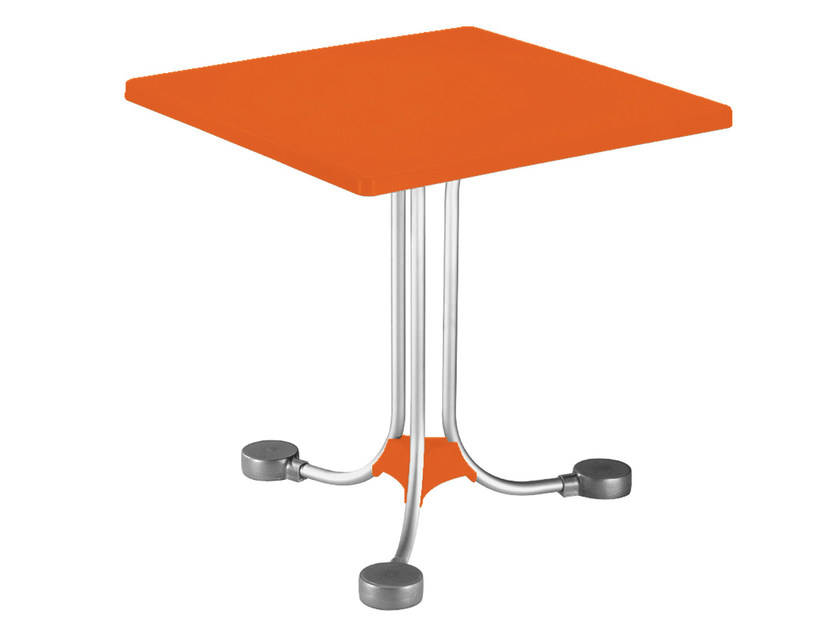 Square technopolymer coffee table Square coffee table - GABER