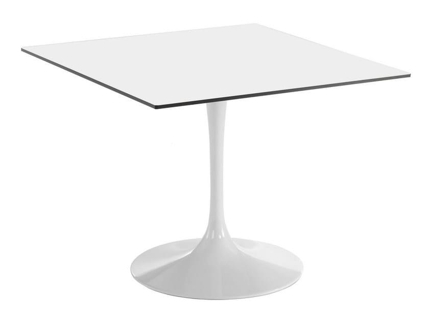 Square aluminium table SATURNO | Square table - GABER