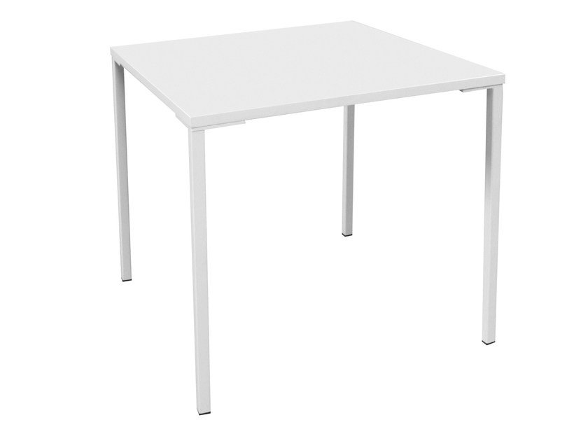 Stackable square metal table SIMPLY - GABER