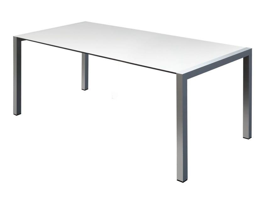 Rectangular aluminium table SPACE | Rectangular table - GABER