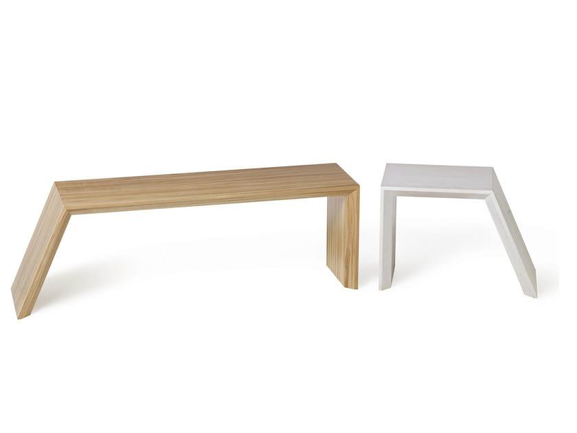 Backless wooden bench seating NOOK - Nola Industrier
