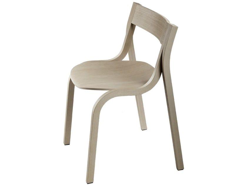 Stackable wooden chair KONRAD - Lapalma