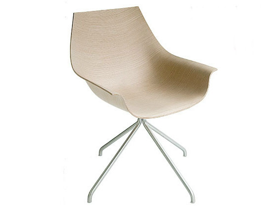 Trestle-based chair with armrests COX   Trestle-based chair - Lapalma