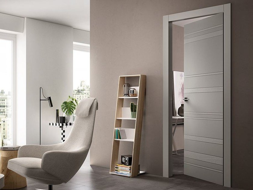 Hinged lacquered door STYLA by FERREROLEGNO
