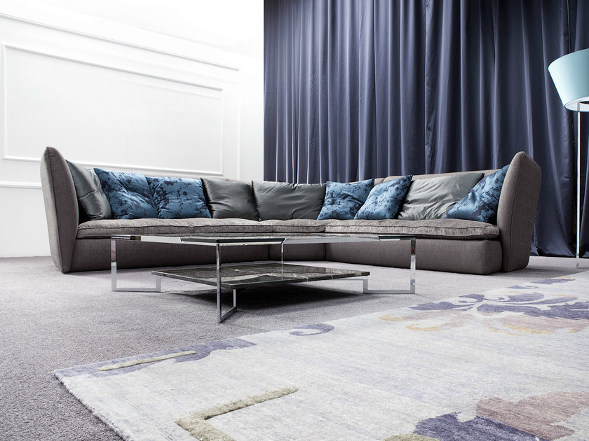 corner upholstered sofa albachiara by erba italia design giorgio soressi. Black Bedroom Furniture Sets. Home Design Ideas