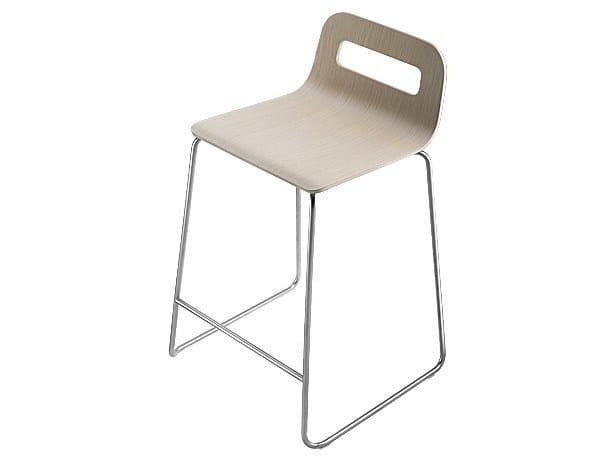 Stackable sled base stool HOLE   Stool - Lapalma