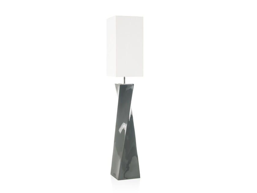 Ceramic floor lamp TWISS FL - ENVY