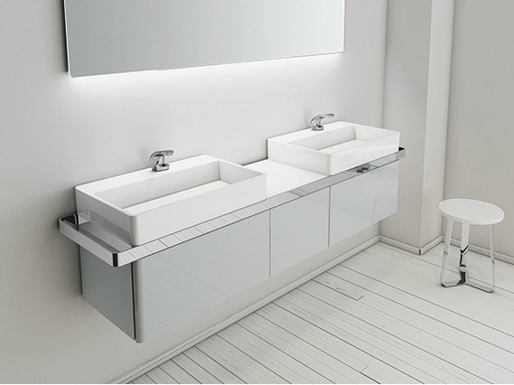 Double wall-mounted vanity unit STRUCTURE | Wall-mounted vanity unit - INBANI