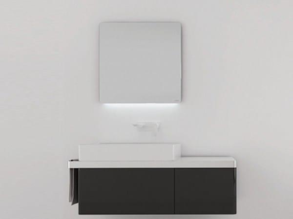 Bathroom mirror with integrated lighting STRUCTURE | Bathroom mirror - INBANI