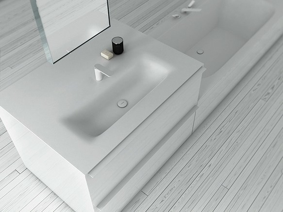 Corian® washbasin KA | Rectangular washbasin - INBANI
