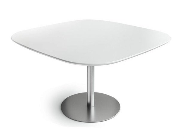 Height-adjustable square table RONDÒ | Square table - Lapalma