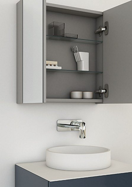 Bathroom mirror with cabinet STRATO | Mirror with cabinet - INBANI
